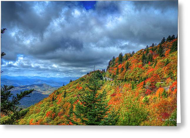 Bend In The Road Blue Ridge Parkway Art Greeting Card by Reid Callaway