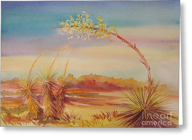 Bending Yucca Greeting Card by Summer Celeste