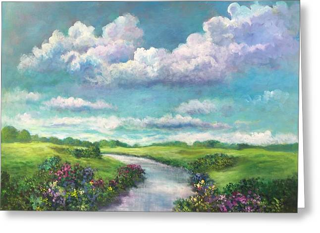 Beneath The Clouds Of Paradise Greeting Card