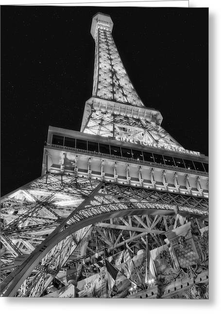 Beneath The Eiffel Tower Greeting Card