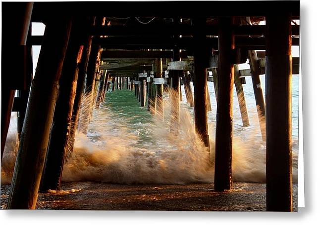 Beneath The Pier Greeting Card