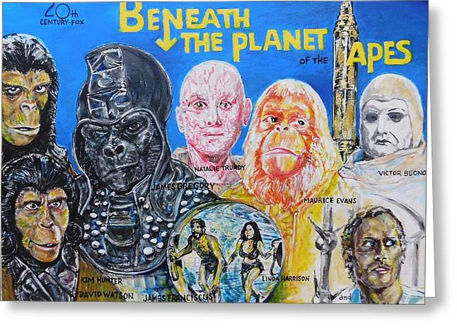 Beneath The Planet Of The Apes - 1970 Lobby Card That Never Was Greeting Card