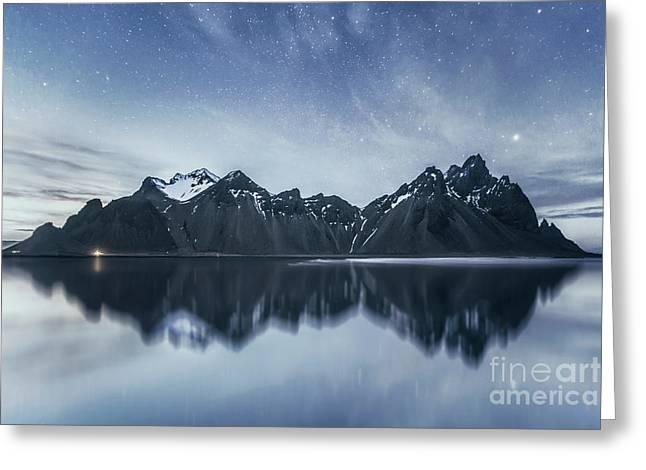 Beneath The Sea Of Stars Greeting Card by Evelina Kremsdorf