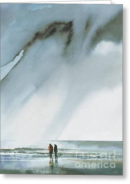 Beneath Turbulent Skies Greeting Card