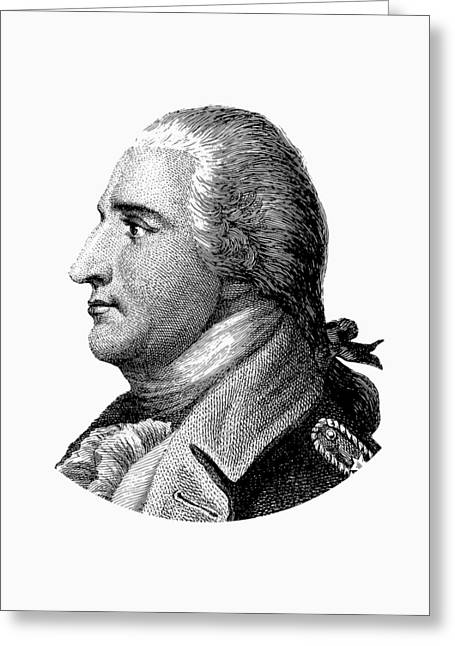 Benedict Arnold - Black And White Greeting Card