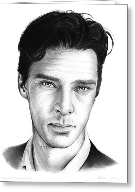 Benedict Cumberbatch Greeting Card by Greg Joens