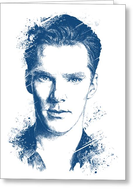 Benedict Cumberbatch Portrait Greeting Card