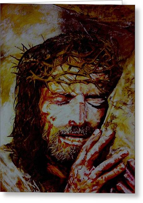 Jesus Pastels Greeting Cards - Benediction Greeting Card by Mandy Thomas
