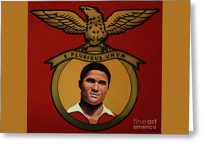 Benfica Lisbon Painting Greeting Card by Paul Meijering