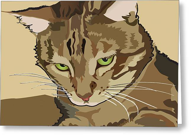 Bengal Kitty Pet Portrait Greeting Card