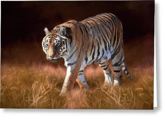 Bengal On The Prowl Greeting Card by Donna Kennedy