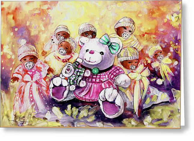 Benidorm Bears And Babies Greeting Card