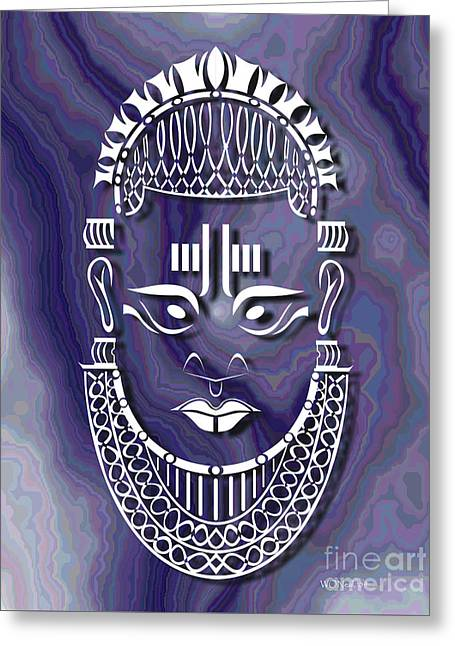 Benin Queen Mother Greeting Card by Walter Oliver Neal