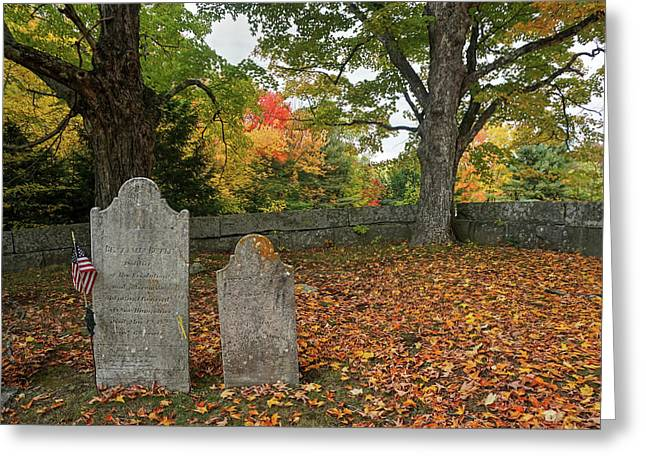 Greeting Card featuring the photograph Benjamin Butler Grave by Wayne Marshall Chase