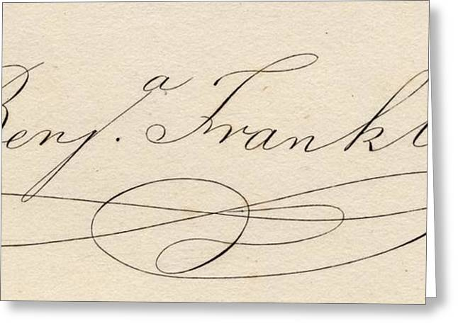 Benjamin Franklin, 1706-1790 Greeting Card by Vintage Design Pics