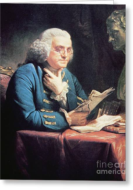 Benjamin Franklin Greeting Card by American School