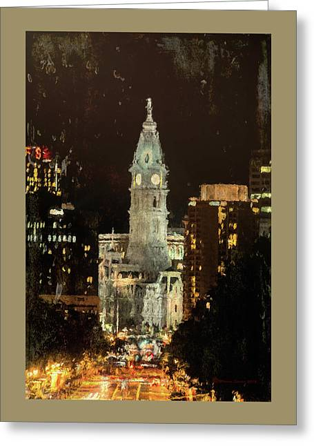 Benjamin Franklin Parkway Greeting Card by Marvin Spates