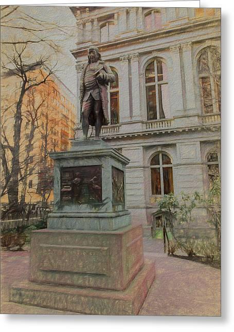 Benjamin Franklin Sketch Greeting Card