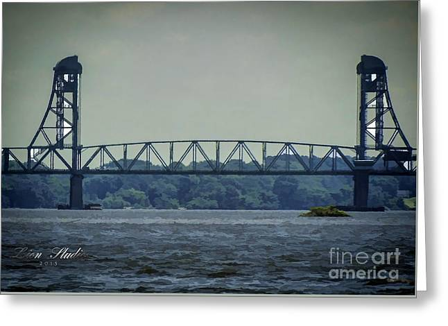 Benjamin Harrison Memorial Draw Bridge Greeting Card