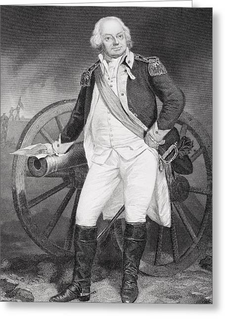 Benjamin Lincoln 1733 -1810. Army Greeting Card by Vintage Design Pics