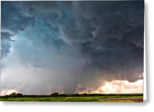 Bennington Kansas Tornado Structure Greeting Card