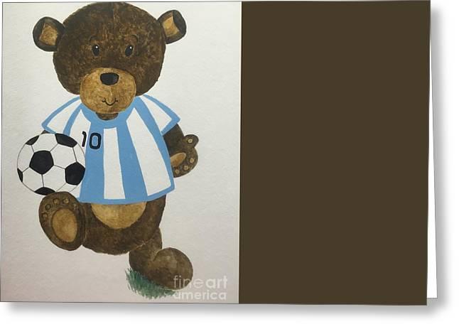 Benny Bear Soccer Greeting Card by Tamir Barkan