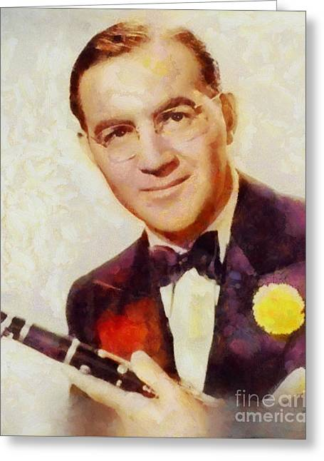 Benny Goodman, Music Legend Greeting Card by Sarah Kirk