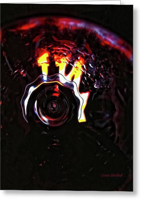 Bent Light Greeting Card by Donna Blackhall