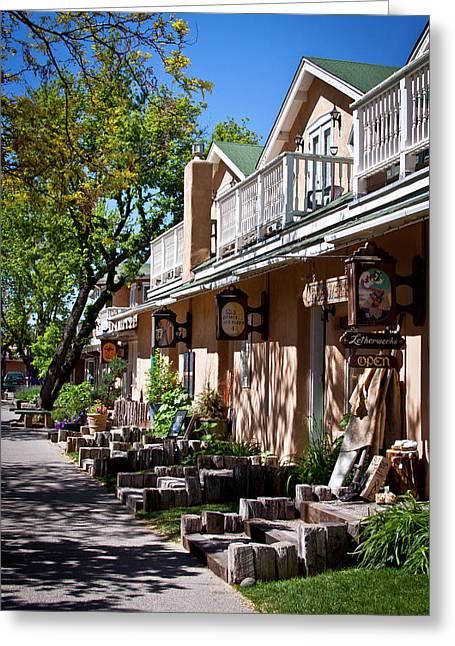 Bent Street In Taos Greeting Card