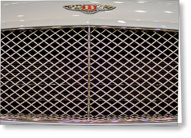 Bentley Grille And Insignia Greeting Card