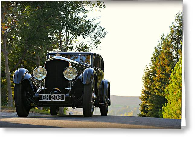 Bentley Speed 6 Corsica Greeting Card