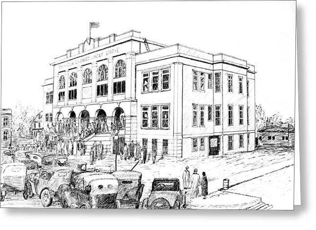 Benton County Courthouse, Dedication Day Greeting Card by Ron Enderland