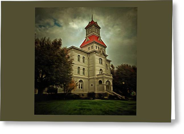 Benton County Courthouse Greeting Card by Thom Zehrfeld