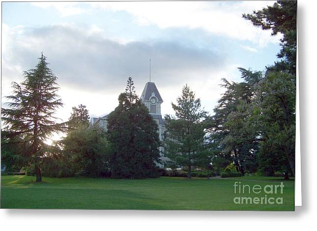 Benton Hall At Oregon State Greeting Card