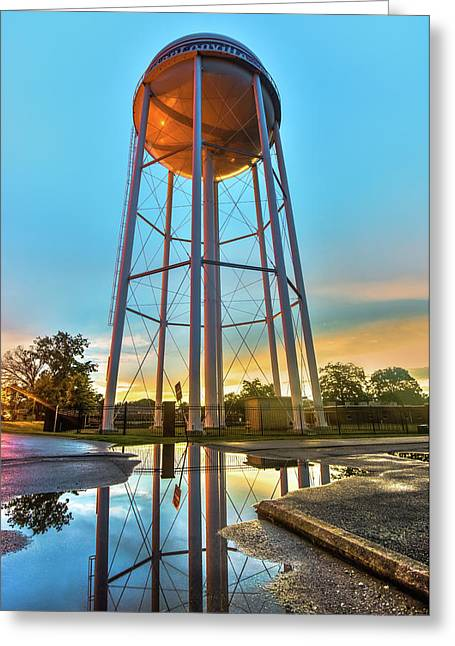 Bentonville Arkansas Water Tower After Rain Greeting Card by Gregory Ballos