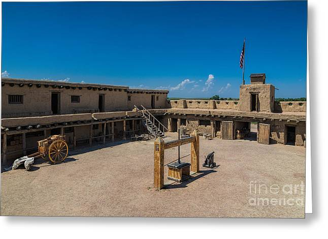 Bent's Fort Courtyard Greeting Card
