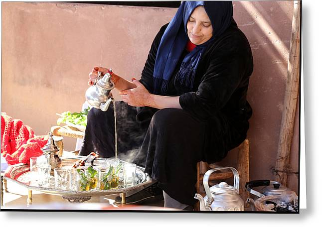 Greeting Card featuring the photograph Berber Woman by Andrew Fare