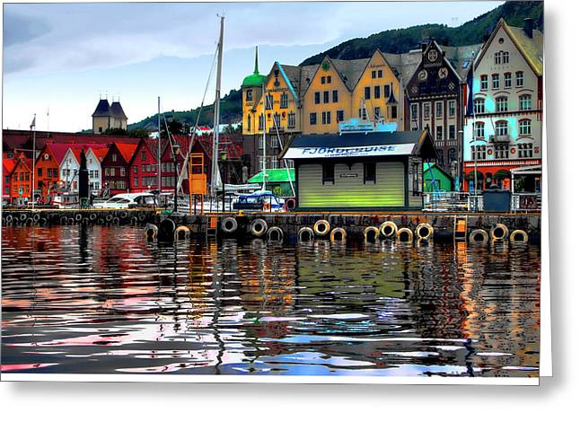 Bergen Colors Greeting Card by Jim Hill