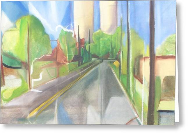 Bergen Turnpike  Greeting Card by Ron Erickson