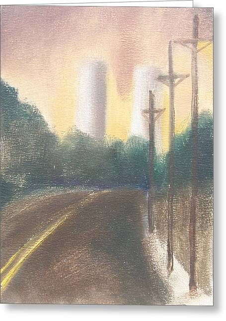 Bergen Turnpike Study Greeting Card by Ron Erickson