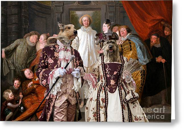 Berger Picard - Picardy Shepherd Art Canvas Print - The Italian Comedians Greeting Card