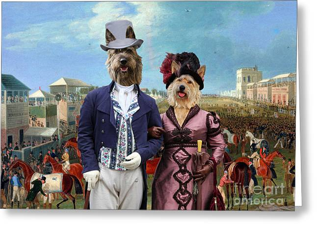 Berger Picard - Picardy Shepherd Art Canvas Print - The Race Over Greeting Card