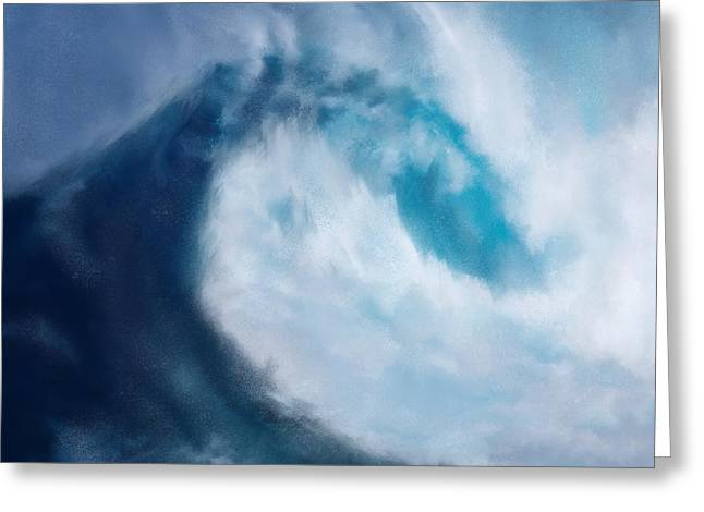 Greeting Card featuring the digital art Bering Sea by Mark Taylor