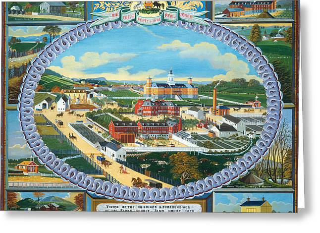 Berks County Almshouse Greeting Card by Mountain Dreams
