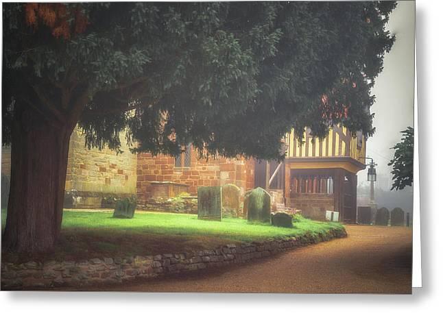 Berkswell Churchyard Greeting Card by Chris Fletcher