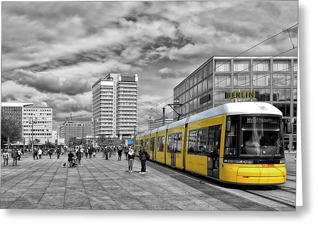 Berlin Alexanderplatz Edition Greeting Card by Joachim G Pinkawa
