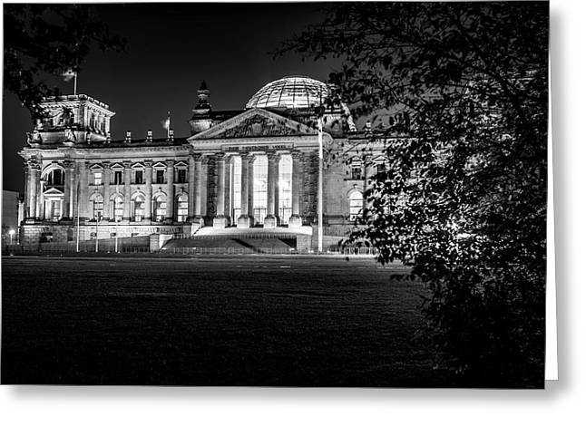 Berlin At Night - Reichstag Greeting Card