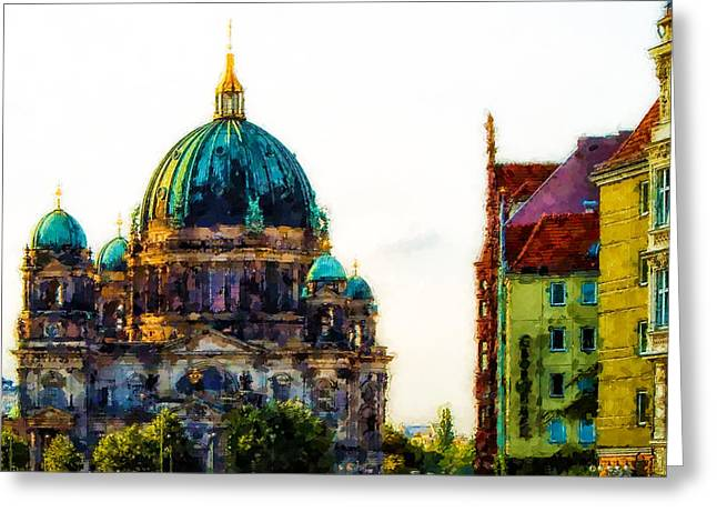 Berlin Cathedral Greeting Card by Lanjee Chee