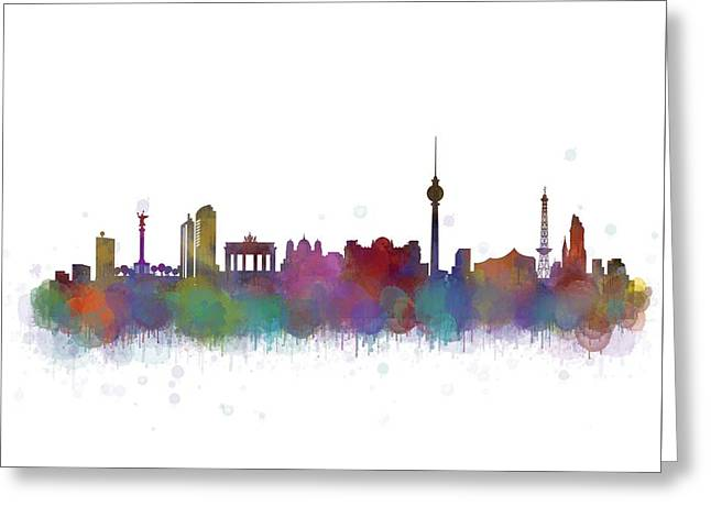 Berlin City Skyline Hq 4 Greeting Card by HQ Photo