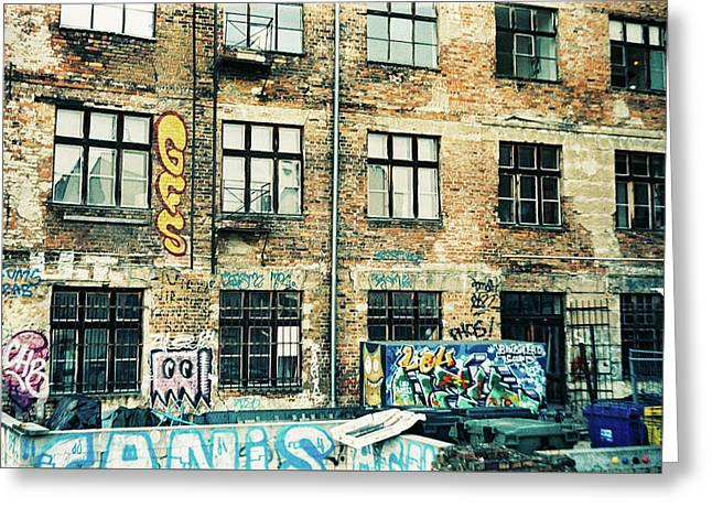 Berlin House Wall With Graffiti  Greeting Card